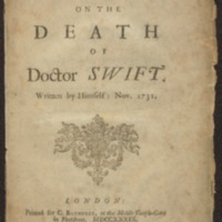 Verses on the death of Dr.Swift