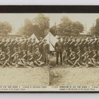 Coronation of H.M. King George V. A group of Australian Cadets camped in the Grounds of the Crystal Palace