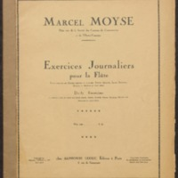 Exercises journaliers / Moyse, Marcel
