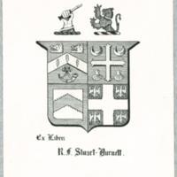Ex libris : R.F. Stuart-Burnett