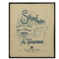 Schneeflocken = (Snowflakes) : für Flöte und Klavier, op. 197 / von A. Terschak.
