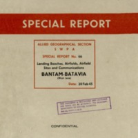 Bantam-Batavia (West Java) : Landing beaches, airfields, airfield sites and communications