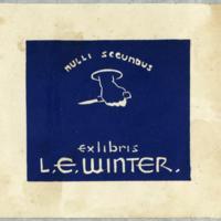 Ex libris : L.E. Winter