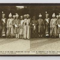 The coronation of H.M. King George V. and Queen Mary. Some royal Indian visitors taking part in the celebrations