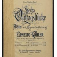 Sechs Vortragsstücke für Flöte mit Klavierbegleitung, op. 84. No. 4, Déclaration / Ernesto Köhler.