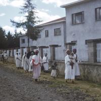 Women and children returning home from Temkat festival
