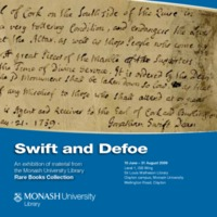 Swift and Defoe: an exhibition of material from the Monash University Library Rare Books Collection 10 June - 1 September 2009