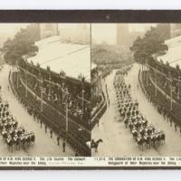 The coronation of H.M. King George V. The Life Guards - The stalwart bodyguard of their Majesties near the Abbey