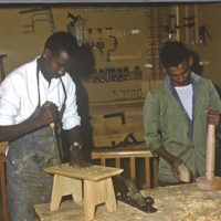 Carpentry class at Haile Selassié Boys Secondary School
