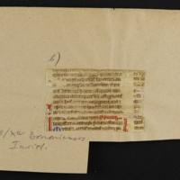 Fragment no. 19 - Bischoff Manuscript Collection