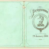 Programme, 29th January 1864