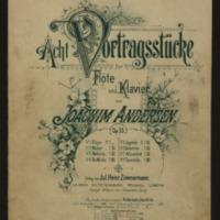 Acht Vortragsstücke für Flöte und Klavier. Op. 55, No. 2, Walzer / von Joachim Andersen.