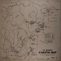 Coastal map: S E Borneo
