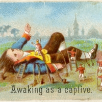 Awaking as a captive.