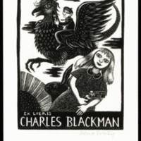 Ex Libris Charles Blackman (with signature)