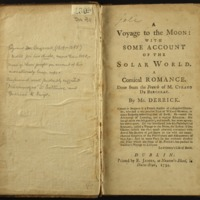A voyage to the moon : with some account of the solar world : a comical romance
