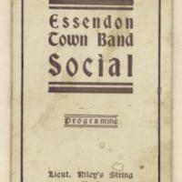Essendon town band social programme