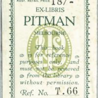 Ex libris : Pitman Melbourne