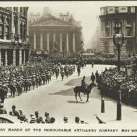 Victory march of the Honourable Artillery Company, May 20th 1919