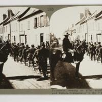 "Prisoners coming in after repulse at Hangard and Villers-Bretonneux in the ""Kaiser's Battle"""
