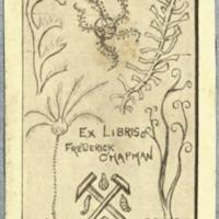 Ex libris : Frederick Chapman