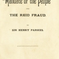 "The ""Mandate of the people"" and the Reid fraud"