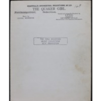 The quaker girl : selection / music by Lionel Monckton ; selected and arranged by H.M. Higgs