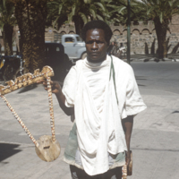 Eritrean man with traditional harp