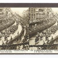 The Coronation of H.M. King George V. A detachment of colonial troops in the royal progress through London