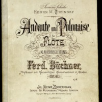 Andante und Polonaise : für Flöte mit Klavierbegleitung : op. 41