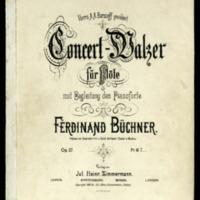 Concert-Walzer : für Flöte mit Begleitung des Pianoforte : op. 27