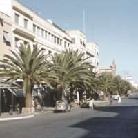The main street of Asmara, capital of Eritrea