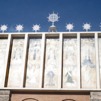 Facade of Coptic church at Asmara