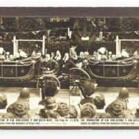 The Coronation of H.M. King George V. and Queen Mary. The King receives an address from the benchers of Gray's Inn