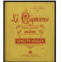 Capricieuse : morceau de concert pour flûte avec accompagnement de piano, op. 94 / par Ernesto Köhler.