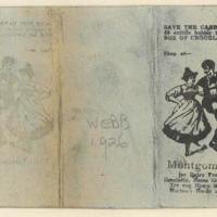 Dance card, 1926