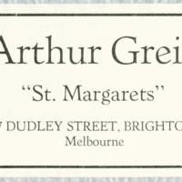 "Arthur Greig : ""St. Margarets"""
