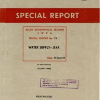 Water Supply - Java  : Volume 3