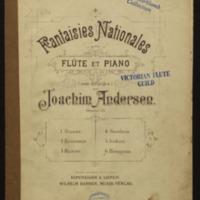Fantaisies nationales pour flûte et piano (non difficiles), oeuvre 59. 6, Hongrois / par Joachim Andersen.