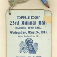 Druids' 23rd annual ball, 26th May 1915