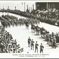 Nurse Edith Cavell, patriot & martyr: funeral procession, May 15th 1919