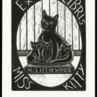 Ex Libris Miss Kitty (K.Littlewood)