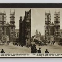 The coronation of H.M King George V. Historic Westminster Abbey where King George and Queen Mary were crowned