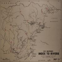 Index to rivers: S E Borneo