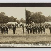 The coronation of H.M. King George V. N.S.W. Cadets who are taking part in the celebrations in camp, Crystal Palace