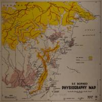 Physiography map: S E Borneo