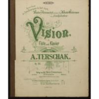 Vision : für Flöte und Klavier : Op. 183 / von A. Terschak.