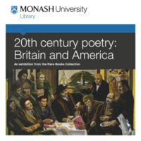 20th century poetry: Britain and America: an exhibition from the Rare Books Collection 14 June - 27 September 2013