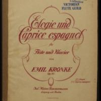Elegie und Caprice espagnol für Flöte und Klavier, op. 113. No. 1, Elegie / Emil Kronke.