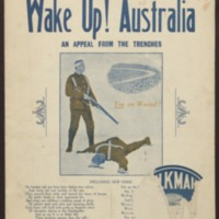 Wake up! Australia / written and composed by Alfred Mansfield